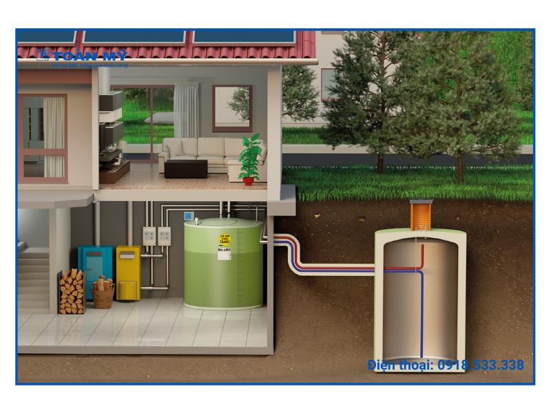 Bồn nước đặt dưới lòng đất đảm bảo an toàn cho gia đình của bạn