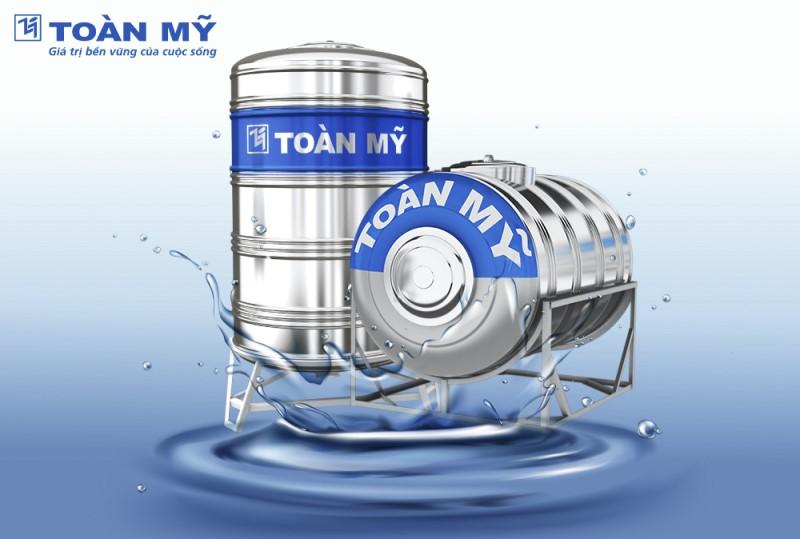 Bồn nước inox được thiết kế với độ an toàn cao, giúp nước luôn được giữ sạch, đảm bảo sức khỏe cho người dùng.